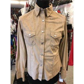 CAMICIA SOLID SUEDE SHIRT OUTBACK