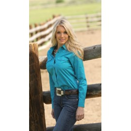 CAMICIA TEAL PINPOINT MILLER