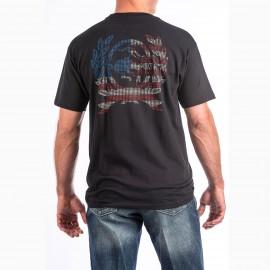 T-SHIRT BLACK AMERICAN FLAG CINCH