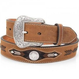 CINTURA BROWN BUFFALO CONCHO NOCONA