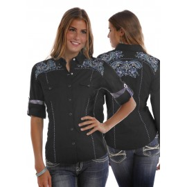 CAMICIA BLACK PANHANDLE SLIM